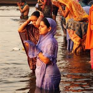 ganga bath ganga snan indian bathing ghats picture 1
