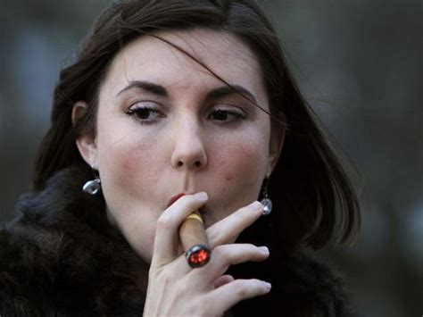 female smoking captain black cigar picture 9