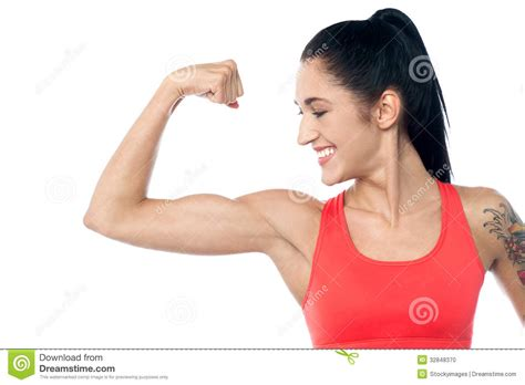 female flexing muscles picture 6
