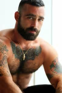 hairy muscle beard mens picture 1