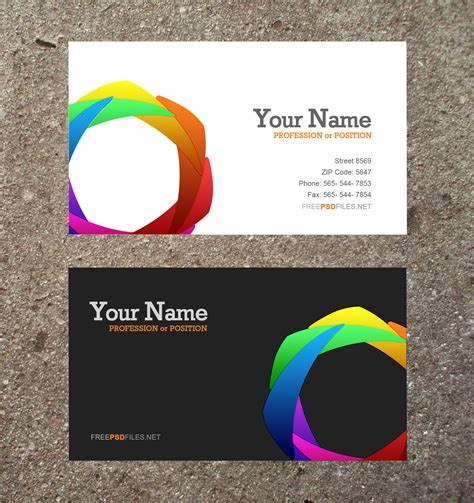 free online business card templates and photos picture 13