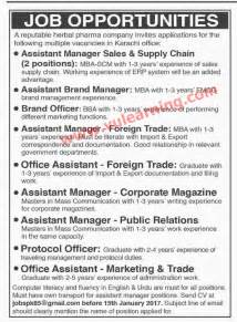 jobs for herbalist in herbal multinational companies in karachi picture 2