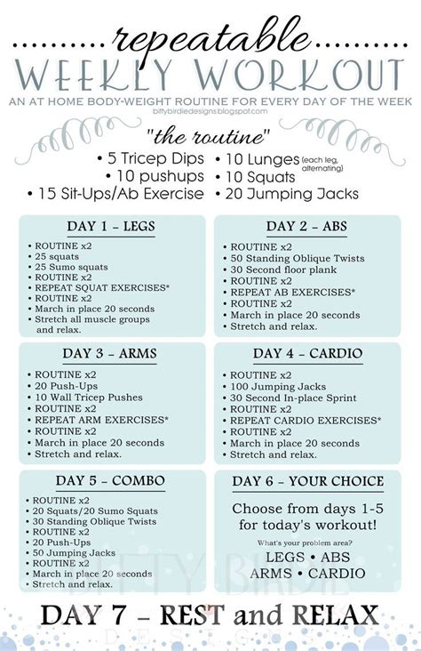weight loss exercise plans picture 14