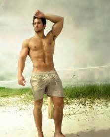 muscle men on beach picture 2