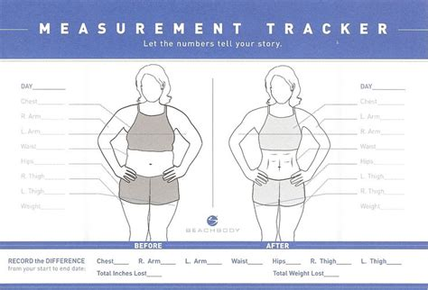 weight loss measurement chart picture 2