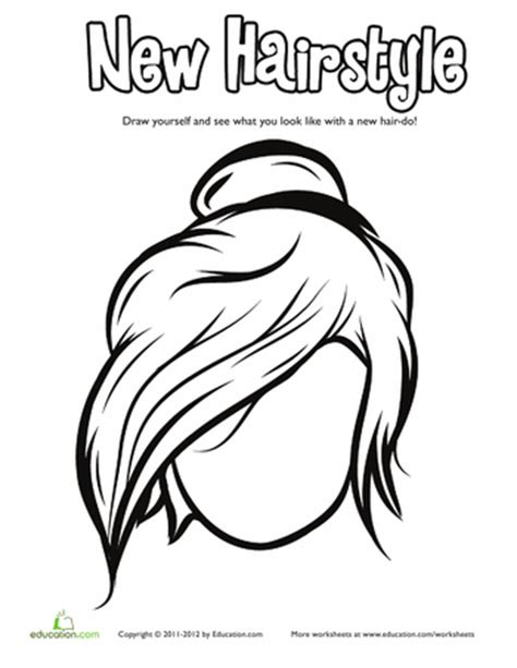 coloring pages on hair picture 6