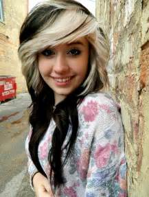blonde hair and black highlights picture 5
