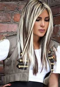 platinum blonde hair with black streaks picture 3
