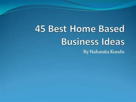 best home based business picture 9