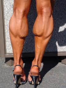 look at her muscular calves picture 3