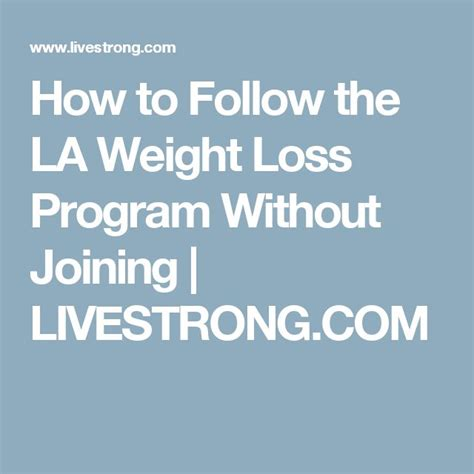 la weight loss programs picture 3
