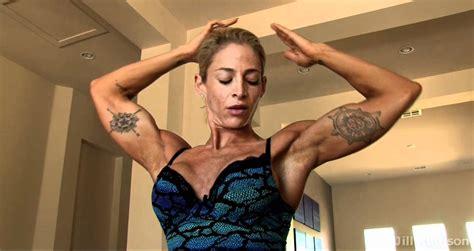 women arm wrestling flexing muscles picture 14