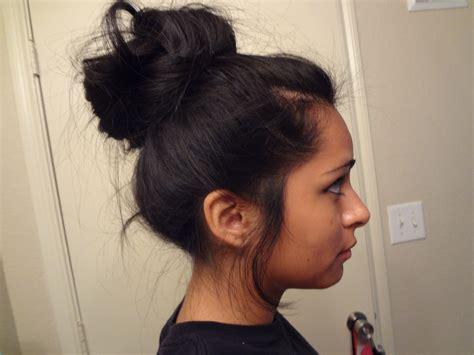 black hair buns picture 17