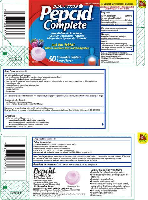 fda approves pepcid complete (calcium carbonate, magnesium hydroxide) picture 3