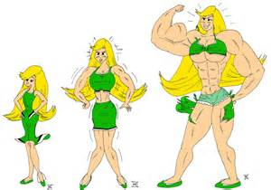 cartoon muscles women picture 2