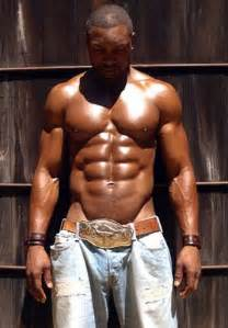 black man muscle abs picture 6