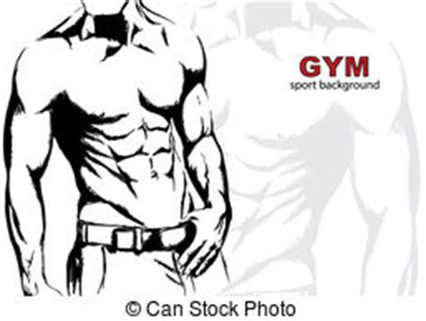 carnival beach muscle man drawings picture 9