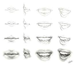 tutorial drawing lips picture 2