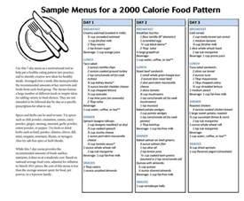 2000 calorie sample menus picture 1