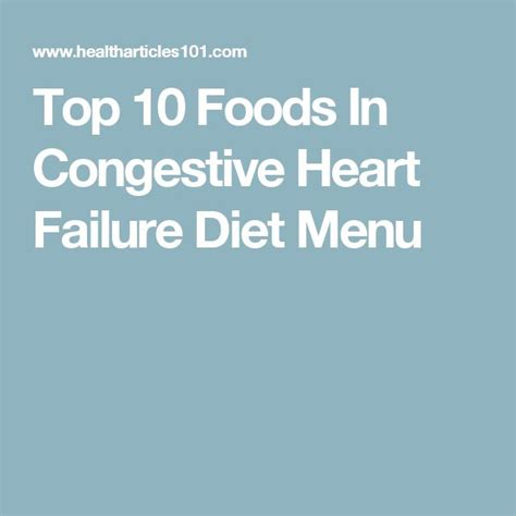 congestive heart failure diet picture 5