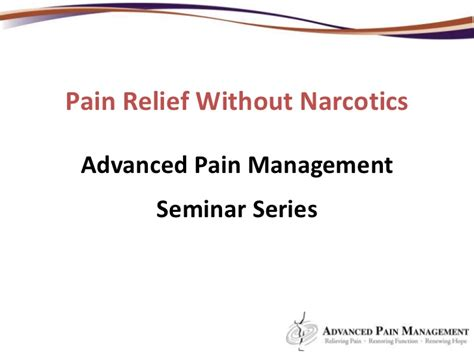 what mimics the pain relief of narcotic pain picture 6