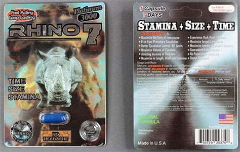 rhino 7 platinum 3000 side effects picture 2
