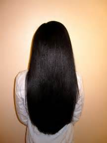 african american relaxed hair picture 1