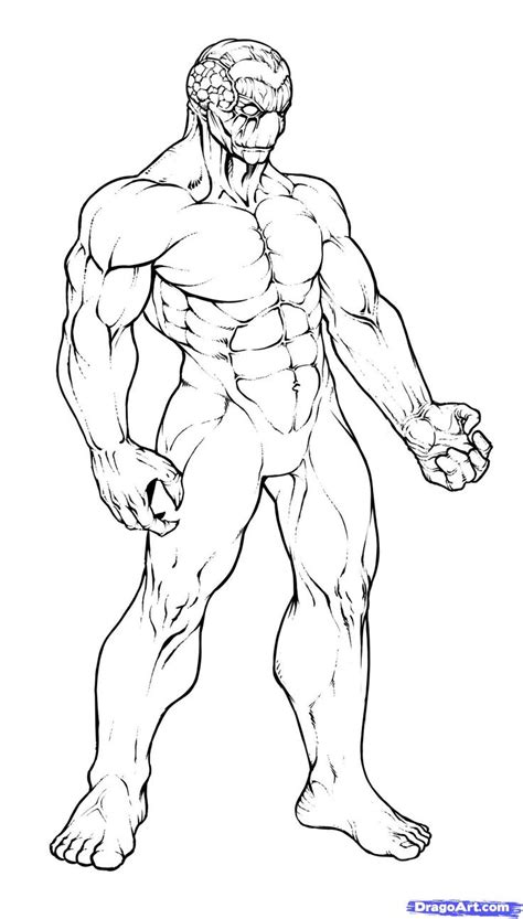drawing of beach muscle man picture 14