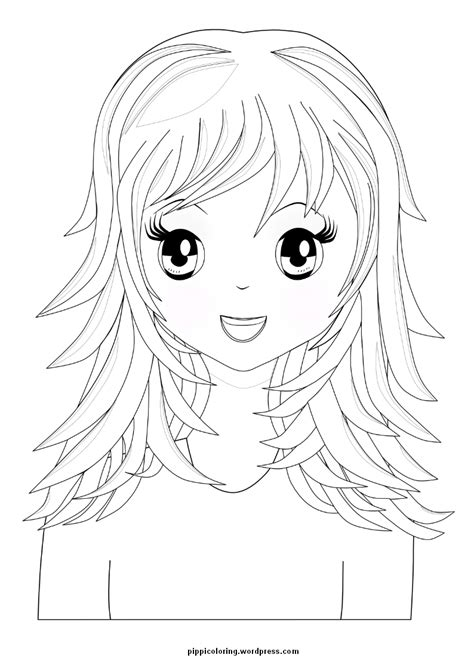 coloring long hair picture 14