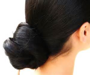 black hair buns picture 3