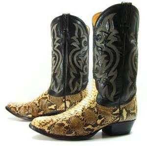 anaconda snake skin design mens western cowboy s picture 11
