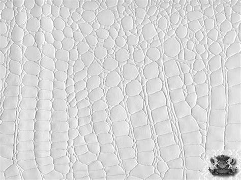 faux white alligator skin hand picture 15