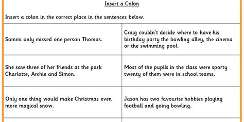 colon grammar worksheets picture 13