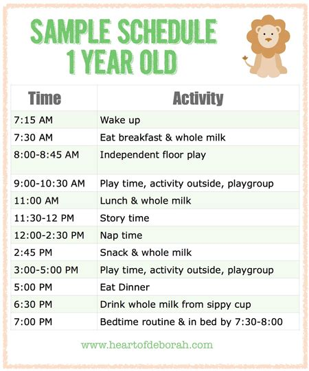 sleep schedule for a one year old picture 2