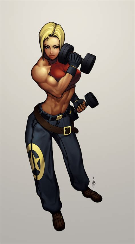 female muscle art picture 13
