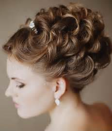curly frizzy hair updo for wedding picture 6