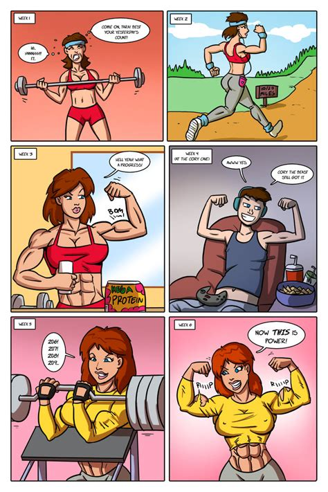 female muscle growth art picture 9