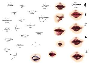 tutorial drawing lips picture 3