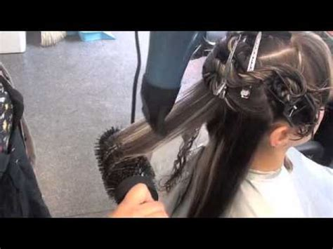 curl hair with a round brush how to picture 1