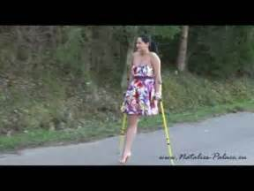 women leg amputee high level on crutches picture 9