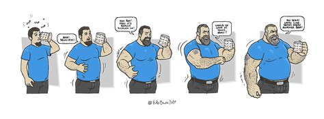 cartoon male muscle transformation picture 2