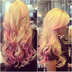blonde brown and pink hair picture 3