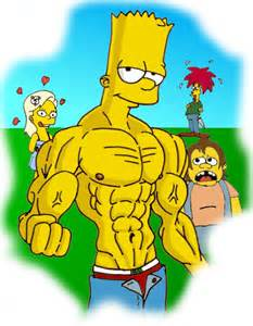 les simpson muscle growth picture 3