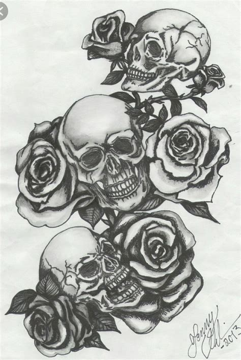 tattoos with smoke and skulls picture 3