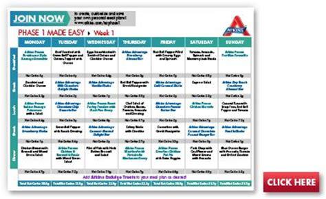 atkin's diet daily schedule picture 2