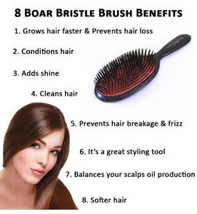 Brushing hair with boar brush picture 2
