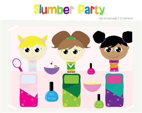 clip art with sleep over partys picture 15