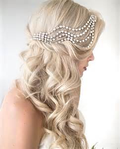 wedding hair half up half down formal picture 13
