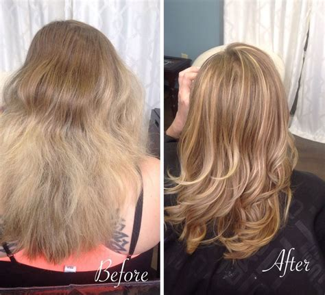 before and after olaplex treatment picture 1