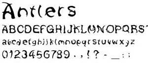 deer antler font picture 3